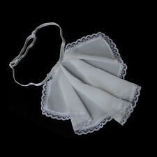 1pc Kid Lolita Vintage Jabot Pleated Collar Chiffon Lace Neckwear Cosplay Props