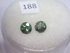 Natural Australian Sapphires Pair of 2 x 4mm round, total of .69 cts. ID #188