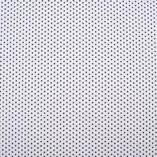 Tissu de Coton Mini Étoiles Blanc Bleu Foncé 1,40m Largeur
