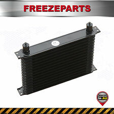 262 MM Universal 15 Row AN10 Engine Transmission Aluminum Oil Cooler Black Color