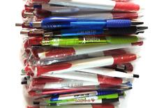 New listing Wholesale Lot of 100 Misprint Ink Pens Ball Point Plastic Retractable Pens Mi.
