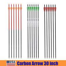 "New Archery 30"" Mixed Carbon Arrow Target Hunting Arrows SP500 Shooting Practice"