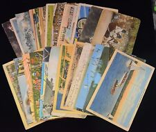 Antique & Vintage Lot of 25 Various Circulated POSTCARDS Early-Mid 1900s (#7)