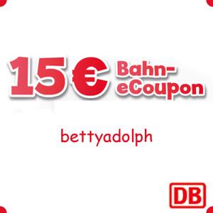 SOFORT 24/7 Instant Shipping 15€ DB Gutschein Deutsche Bahn eCoupon MBW 39,90€