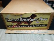 Old Vintage Advertising Graphic Red Wing Irish Setter Sport Boot shoe box only