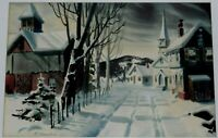 F. HORVATH SIGNED ORIGINAL WATERCOLOR PAINTING OF WINTER LANDSCAPE