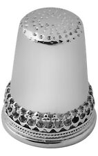 More details for plain and patterned thimble sterling silver 925 hallmarked new from ari d norman