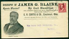 US 1893 JAMES G. BLAINE book advertising cover E.R. CURTIS CINCINNATI OHIO