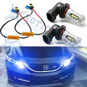 8000K Blue 9005 High Beam LED Daytime Running Light Kit Perfect Fit Acura Honda