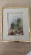 "Des Matthews ""Tree Tops"" Framed & Matted Print / Painting Vintage"
