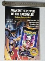 Gargoyles The Movie RARE Print Advertisement