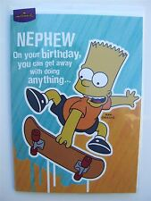 Simpsons bart skate boarding birthday card for a NEPHEW by Hallmark - 11054725