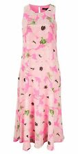 Ladies French Connection Holiday Poppy Silk Maxi Dress Size 10 RRP £170.00