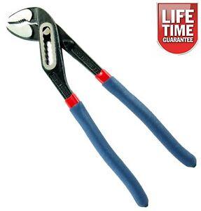 """250mm 10"""" Plumbers Slim Jaw Waterpump Pipe Wrench Pliers Grips Pump"""