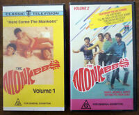 THE MONKEES Here Come the Monkees Volumes I & II VHS Video Tapes