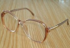 Mint LUXOTTICA 4539 54-15 R97 clear plastic Pink/Gold Eyeglasses frames - Italy