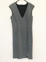 Tokito Ladies Black White Sleeveless Work Pencil Dress Size 10 Insulated Stretch
