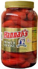 HANNAHS RED HOT PICKLED SAUSAGE (1 GAL. JAR)