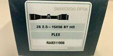 Swarovski 59510 Z6 2.5-15x56 Riflescope BT Plex Reticle 30mm Tube Matte Black