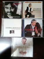 Lot Of 5 Like NEW Andrea Bocelli CD's, Sentimento, Passione, Cinema, Viaggio....