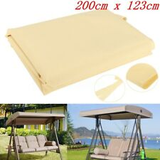 "79""x48"" Beige Outdoor Patio Swing Canopy Hanging Hammock Chair Cover Replacement"