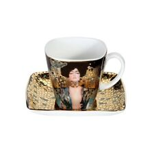 Gustav Klimt Espressotasse JUDITH I H. 6,5cm eckig Goebel Porzellan