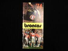 1974 Denver Broncos NFL Media Guide