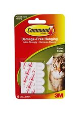 4 x 3M Command 12 Poster Hanging Small Picture Strips Damage Free Hanging New