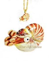 Nautilus Bejeweled Trinket Box