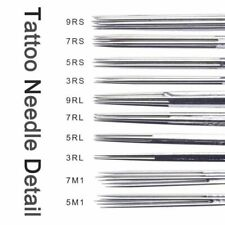 Tattoo Needles  Sterile Disposable Tattoo Package Deal Of 100 Pieces