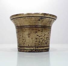 Mortaio campana in ottone anni '20 antico vintage v130