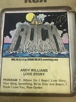 ROCK ANDY WILLIAMS LOVE STORY 70S VINTAGE 8 EIGHT TRACK CASSETTE TAPE CARTRIDGE