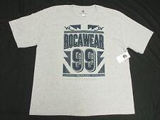 $32 NWT NEW Mens Rocawear T-Shirt Victory 99 Graphic Tee Grey Urban 4XB 4X N138