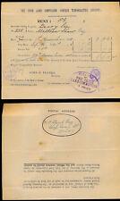 Irlanda 1899 LAND commissione affittare documento + Penny LILLA FISCALI USATI OVALE HS