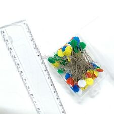 100 pcs Multi Color Head Dressmaking Pin Decorating Sewing Scarf flower pins