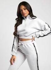 Gym King Womens Taped 1/4 Zip Funnel Neck Designer Sweatshirt Sweater Jumper
