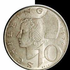 1970 Austria 10 Schilling Silver