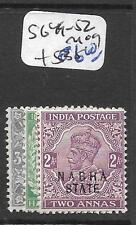 INDIA NABHA (P2602B) KGV SG 49-52  MOG