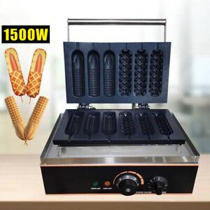 Kommerzielles Waffeleisen Waffeln Hotdog Edelstahl Antihaftbeschichtung 1500W DE