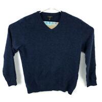 Charter Club Mens Medium Blue V Neck Sweater 100% Cashmere