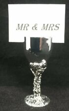 Mini Goblet Wedding Tag Holder Chalice Cup Steel Chrome Metal Occasion Tag Hldr
