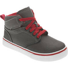 Faded Glory Youth Boys' Gray/Red Lace-up Casual Hi-Top Sneaker/Shoes: 13-6