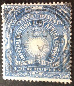British East Africa 4 Rupee blue Stamp vfu