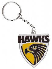 33739 HAWTHORN HAWKS AFL TEAM LOGO MASCOT METAL KEYRING KEY RING