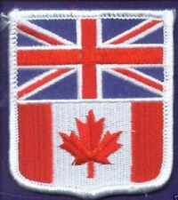 UNION JACK & CANADA FLAG EMBROIDERED PATCH BADGE