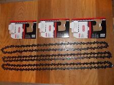 "3 Oregon 20"" semi chisel chainsaw chains 73DPX072G 3/8 .058 gauge 1.5mm 72 DL"