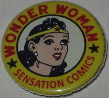 "Retro Wonder Woman ""Sensation Comics"" Pin Licensed by Dc Comics 1.25"""