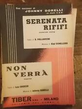 """SPARTITO DORELLI """"SERENATA RIFIFI"""" """"NON VERRA' """""""