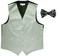 New Men/'s Formal Vest Tuxedo Waistcoat aqua blue/_Bowtie wedding prom party