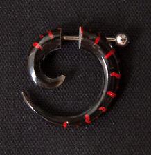 PIERCING / FAUX ECARTEUR- TRIBAL : CORNE (ROUGE) / 2,5x2,5cm / HORN / SILVER 925